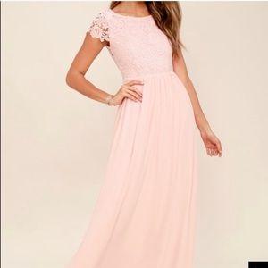 Lulu's blush pink bridesmaid/formal dress
